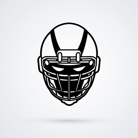 American football Helmet graphic vector. Vettoriali