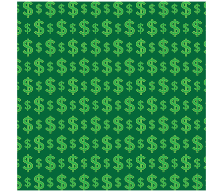 Money pattern on green background graphic vector