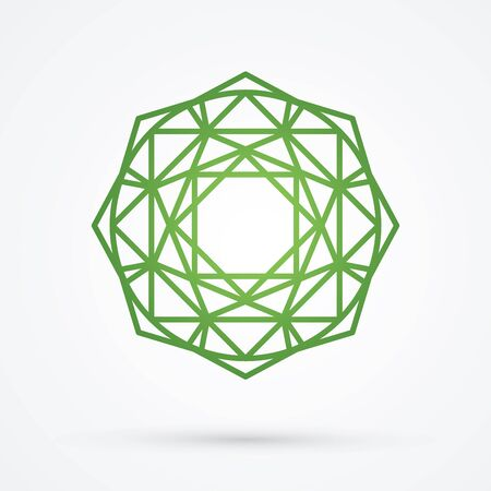 illuminate: Green Diamond graphic vector.