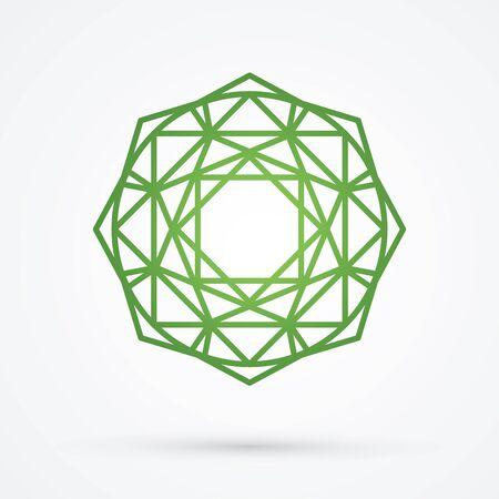 Green Diamond graphic vector.