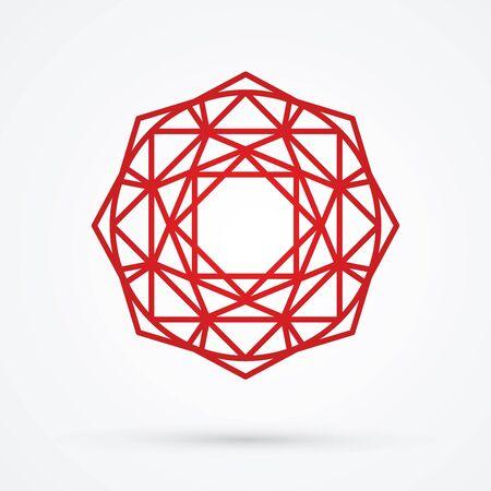 red diamond: Red Diamond graphic vector.