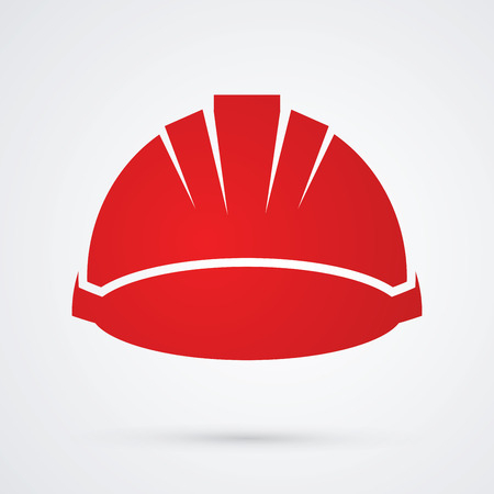 Construction helmet graphic vector.