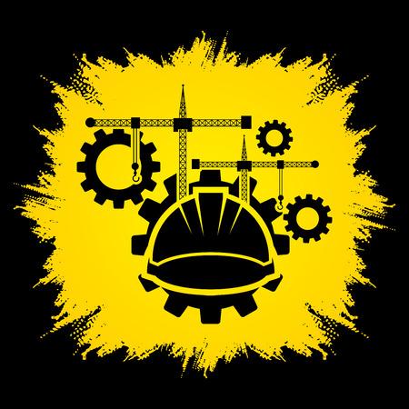 grunge frame: Construction building industry designed on grunge frame background graphic vector.