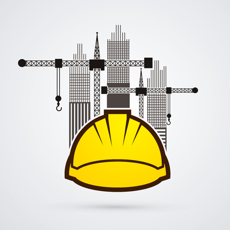 Construction building industry graphic vector.