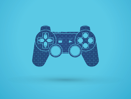 Game Joystick designed using geometric pattern graphic vector.