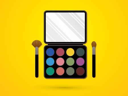 complexion: Makeup Colorful Palette graphic vector. Illustration