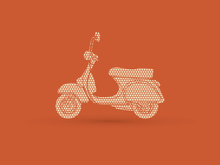 Scooter designed using geometric pattern graphic vector