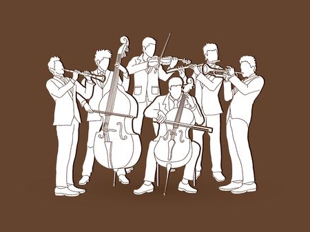 lecteur Orchestra vector graphic