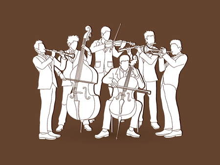 Orchestra player graphic vector Illustration