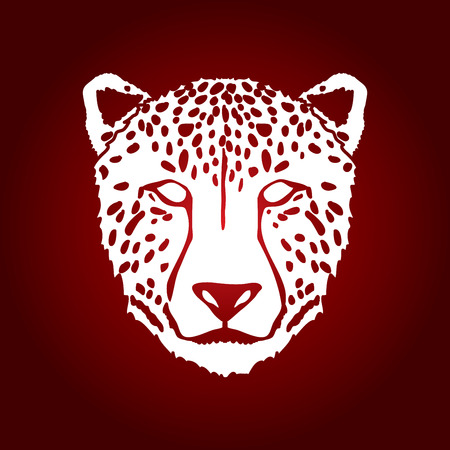 Cheetah face graphic .