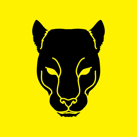 Black Panther Head graphic vector.