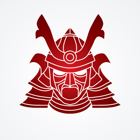 ronin: Samurai mask graphic vector.