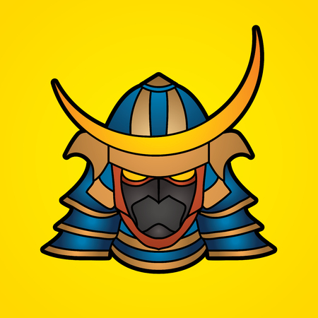 solider: Samurai mask graphic vector.