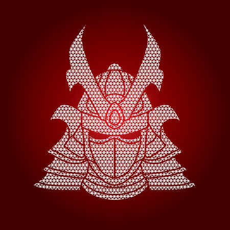 ronin: Samurai mask designed using geometric pattern graphic vector. Illustration