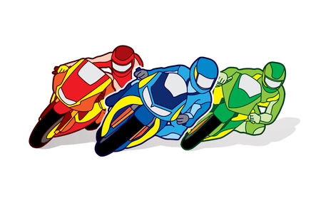 gp: Motorcycles racing designed using colorful graphic vector Illustration