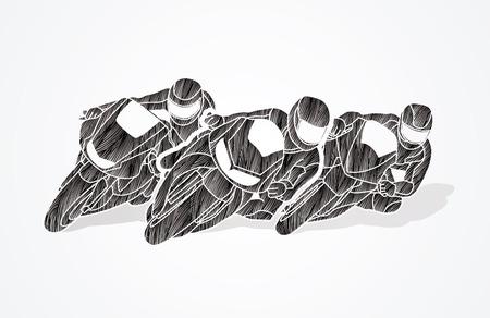 gp: Motorcycles racing designed using black grunge brush graphic vector