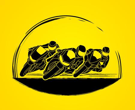 gp: Motorcycles racing graphic vector