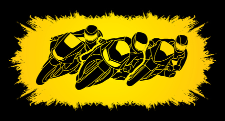 gp: Motorcycles racing designed on grunge frame background  graphic vector