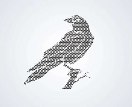 cling: Crow designed using geometric pattern graphic vector.