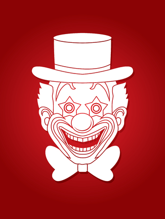 jugglery: Clown head, smile face graphic vector. Illustration