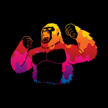 Abstract Angry Gorilla  graphic vector