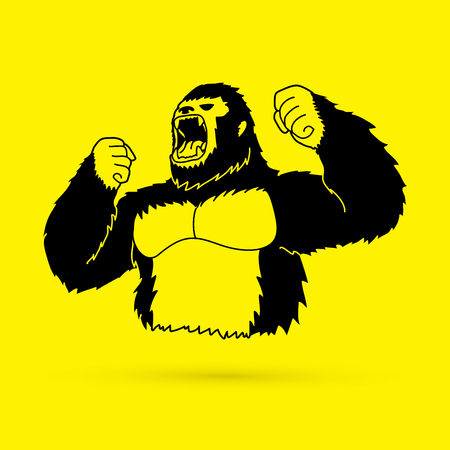 Angry Gorilla graphic vector Illustration