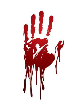 Bloody hand graphic vector. Vektorové ilustrace