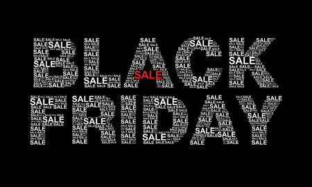Black Friday text designed using sale text graphic vector Illustration