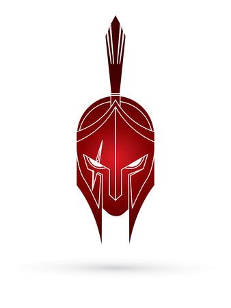 Roman or Greek Helmet , Spartan Helmet, Angry Warrior face graphic vector