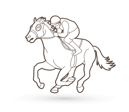 4353 Horse Racing Stock Illustrations Cliparts And Royalty Free