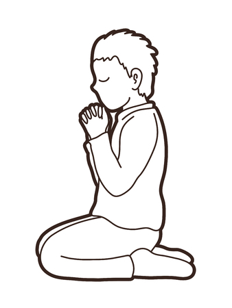 Prayer, Christian praying graphic vector