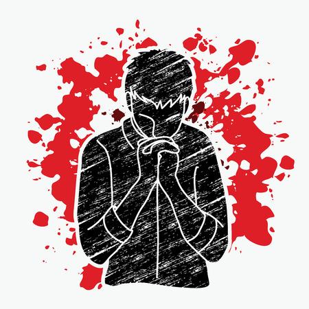 Prayer, Christian praying, Thank you GOD graphic vector