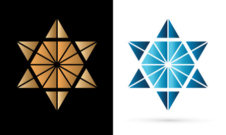 Israel star, modern star, luxury graphic vector. Vektorové ilustrace