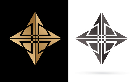 Modern Star luxury abstract graphic vector.