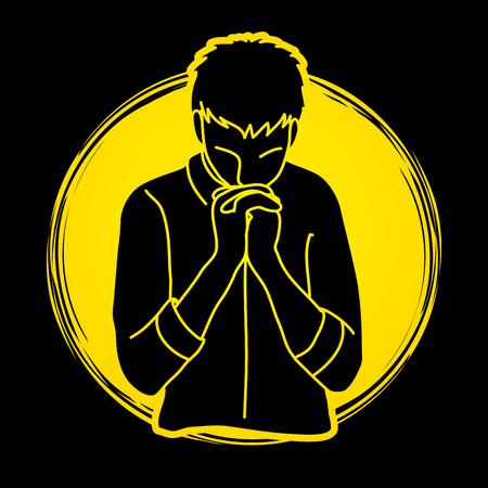 Praise God, Prayer, Christian praying, Thank you GOD graphic vector