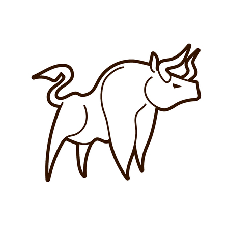 Angry Bull graphic vector
