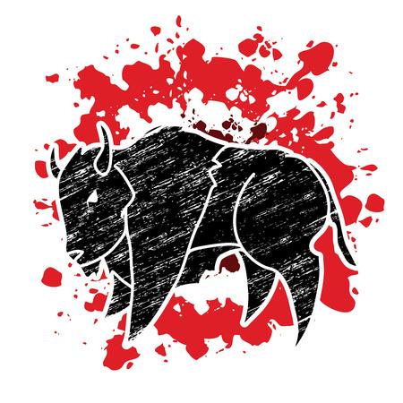 Big Buffalo Bison graphic vector