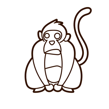 Monkey cartoon graphic vector Illustration