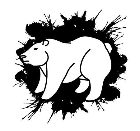 Big Bear Standing graphic vector. Illustration