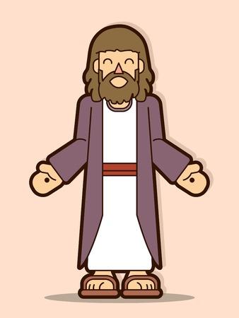 Jesus Christ smile cartoon graphic vector