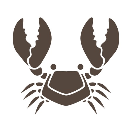 Crab cartoon icon graphic vector Vettoriali