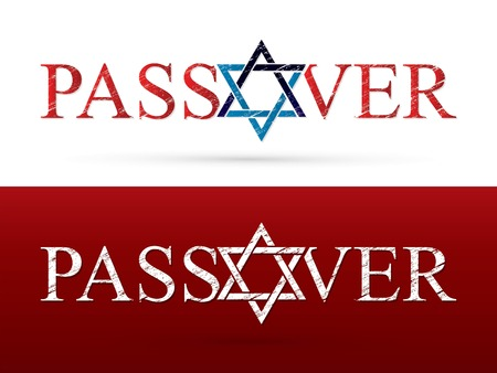 Passover wish Israel star graphic vector Illustration