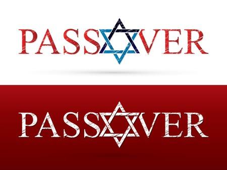 Passover wish Israel star graphic vector Illustration