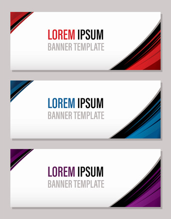 Modern abstract banner template, website banner graphic vector Ilustração