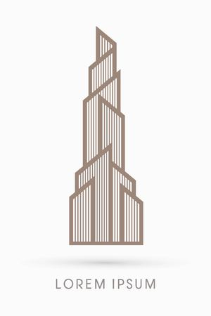Abstract Building Construction High Tower graphic vector Illustration