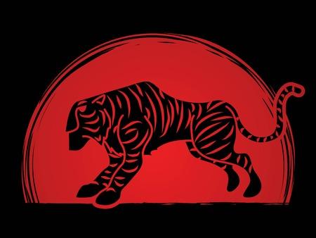 Tiger cartoon graphic vector