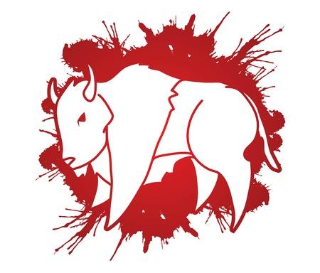Buffalo Bison graphic vector