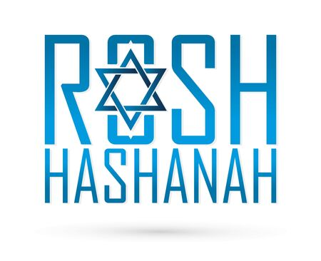 Rosh Hashanah text design, Rosh Hashanah is a Hebrew word meaning the Jewish New Year festival graphic vector Ilustracja