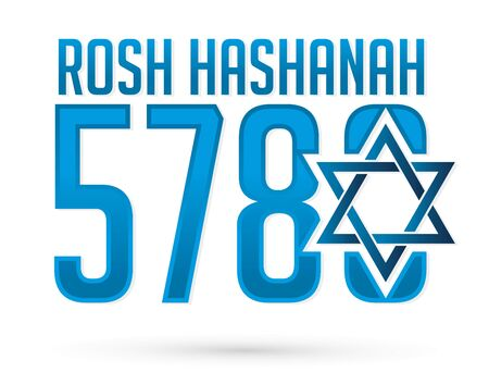 5780 Rosh Hashanah text design, Rosh Hashanah is a Hebrew word meaning the Jewish New Year festival graphic vector