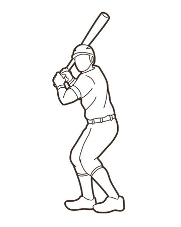 Baseball player action cartoon sport graphic vector. 일러스트